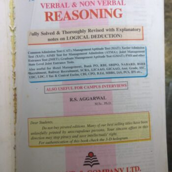 Verbal and Nonverbal Reasoning Competitive Book for Group 2 and Other Jobs