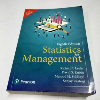 Statistics for Management Eight Edition by Pearson-New Like Secondhand Book