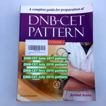 DNB-CET Pattern Volume-1 Book by Arvind Arora