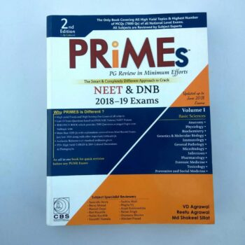Primes PG Review in Minimum Efforts Book for NEET & DNB 2018-2019 Exams by VD Agrawal, Reetu Agrawal & Md Shakeel Sillat