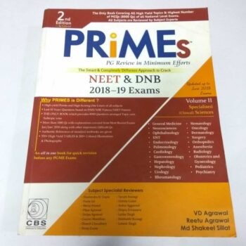 Prime's PG Review in Minimum Efforts NEET & DNB 2018-19 Exams Practice Book 2nd Edition by VD Agrawal, Reetu Agrawal and Md Shakeel Sillat