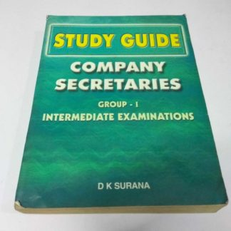 Study Guide-Company Secretaries Group-1 Intermediate Examinations by D K Surana, Old Books, Used Books, Secondhand Books